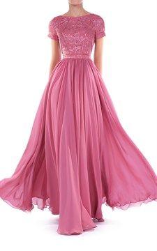 Womens Short Sleeve Maxi Dress Pink
