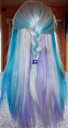 Silver,turquoise and lavender braid