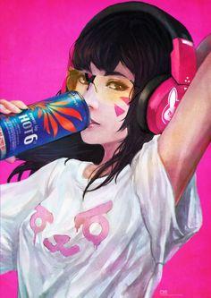 Casual D.VA by MonoriRogue.deviantart.com on @DeviantArt - More at https://pinterest.com/supergirlsart/ #overwatch #fanart #hot6