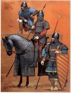 Deadliest Warrior Deathmatch: Byzantine Kataphraktoi: Warrior Bio (crazy good amount of info) Medieval Knight, Medieval Armor, Medieval Fantasy, Armadura Medieval, Byzantine Army, Varangian Guard, Deadliest Warrior, Military Costumes, Empire Romain