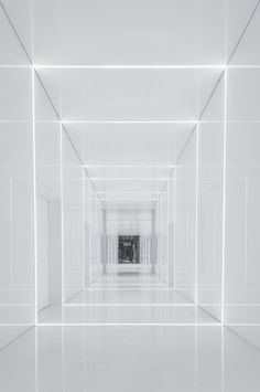 In a project developed for Fuxing Plaza, an enormous retail and office complex located in Shanghai, the architects from boutique design studio AIM have brought. Interior Exterior, Interior Architecture, Interior Design, Interior Lighting, Lighting Design, Deco Restaurant, Futuristic Interior, Boutique Design, White Aesthetic