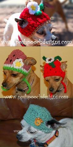 Posh Pooch Designs Dog Clothes: Summer Dog Beanie Hats