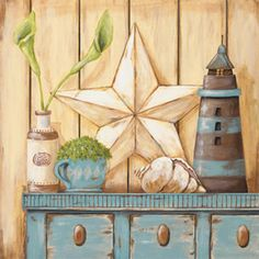 COASTAL CUPBOARD By Jo Moulton. Shop for affordable, exceptional custom framed art prints. Framed Art Prints, Framed Artwork, Fine Art Prints, Wall Art, Painting On Wood, Painting Prints, Primitive Pictures, Canvas Art, Canvas Prints