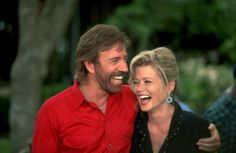 "Chuck Norris & Sheree J. Wilson from ""Walker: Texas Ranger""<3"