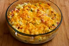 Recipe for Ham and Cauliflower Casserole au Gratin