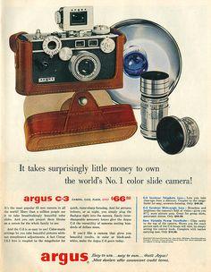Argus Camera Ad - 1956