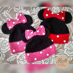 Crechet beanie Minnie Mouse.  Beanie Minnie mouse