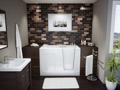 Modern, walk-in bathtub