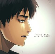 """Read 7 from the story Eren Jaeger Photos by Ereri-Freak (Nobody Important) with 220 reads.""""I wish to see my mother once more"""" Otaku Anime, Manga Anime, Attack On Titan Hoodie, Attack On Titan Anime, Ereri, Levi X Eren, Armin, Female Titan, I Want To Cry"""