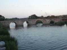 TALAVERA DE LA REINA (Toledo). Puente Romano y río Tajo.