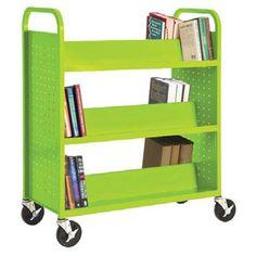 Sandusky Lee SV336 Mobile Book Truck Storage Cart