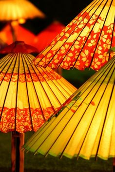.Japanese umbrellas, Wagasa 和傘: photo by freeway.