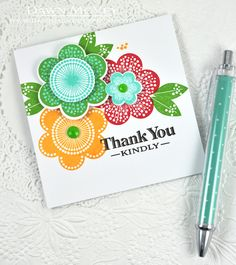 Thank You Kindly Card by Dawn McVey for Papertrey Ink (June 2014)