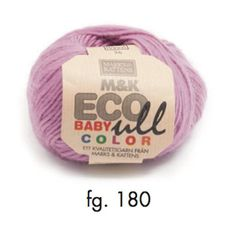 M&K Eco-Baby Ull Color - eco-yarn, 4ply, 25g, rose - I Wool Knit