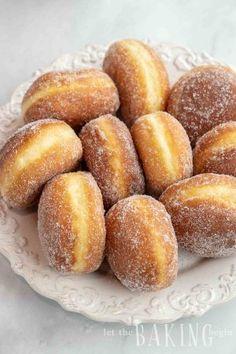 Simple Homemade Sugar Donuts - Let the Baking Begin! Homemade Doughnut Recipe, Donut Recipes, Baking Recipes, Dessert Recipes, Desserts, Sugar Donut, Easy Banana Bread, Dessert For Dinner, Sweet Recipes