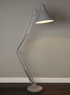 BHS // Illuminate // Angus Floor Lamp // Oversized angled floor task light in matte grey