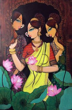 New modern art design artworks paintings Ideas New modern art design artworks paintings IdeasYou can find Indian paintings and more on our websit. Pichwai Paintings, Indian Art Paintings, Modern Art Paintings, Acrilic Paintings, Abstract Paintings, Landscape Paintings, Madhubani Art, Madhubani Painting, Buch Design