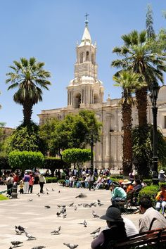 Plaza de Armas de Arequipa - Arequipa, Peru This world is really awesome. The woman who make our chocolate think you're awesome, too. Try some Peruvian Chocolate today! http://www.amazon.com/gp/product/B00725K254
