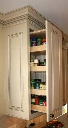 Spice Drawer- I like that's it's above the range instead of below where you need to bend down.