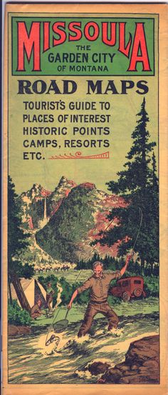 Vintage Missoula, Montana road map and visitors guide #OnlyinMissoula