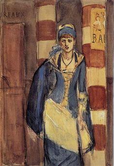 La bebedora de absenta, 1877 - Félicien Rops