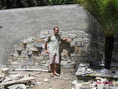 Revestimento de parede com pedra