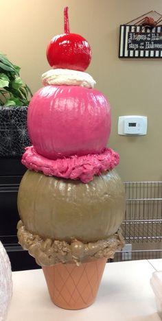 Ice cream cone pumpkin