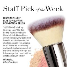 What is your favorite cosmetic product to apply with your Heavenly Luxe Flat Top Buffing Foundation Brush?!
