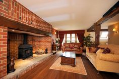 Log Burner Fireplace, Inglenook Fireplace, Fireplace Design, Fireplaces, Fireplace Ideas, Living Room Color Schemes, Living Room Designs, Country Style Living Room, Cosy Lounge