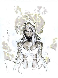 Phoenix Force Emma Frost by Olivier Coipel Comic Book Artists, Comic Book Characters, Comic Artist, Comic Character, Comic Books Art, Emma Frost, Marvel Comics Art, Marvel X, Punisher Marvel