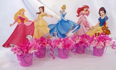 Disney Princess Centerpieces, Princess Party Decorations, Birthday Party Centerpieces, Party Favors, Disney Princess Birthday Party, Princess Theme Party, Princess Cakes, Prince Party, Childrens Party