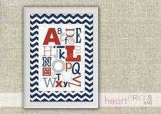 Items similar to alphabet chevron nursery wall art - (pink, navy blue, gray) digital file on Etsy Nursery Wall Art, Girl Nursery, Alphabet Nursery, Alphabet Print, Themed Nursery, Nursery Inspiration, Nursery Ideas, Bedroom Ideas, Baby Room Diy