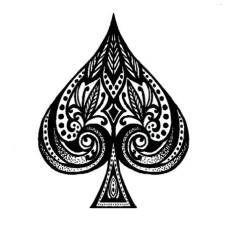 Spades- The Suit of Movement. Used by Whitaker Greenway Ace Of Spades Tattoo, Pretty Tattoos, Cool Tattoos, Tatoos, Tree Tattoos, Tattoo For My Son, Card Tattoo Designs, Negative Space Tattoo, Pyrography Designs