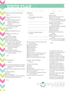 Worksheets Birth Plan Worksheet how to write a birth plan get started births and make your free printables mommy survival