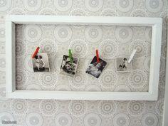 Maalaisromanttinen kehys / Rustic frame - kun sitä ikkunaremonttia tekee, niin näitä kehyksiä pitää säästää!