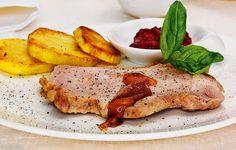 Carne: Lombo com molho agridoce de framboesa