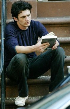 James Franco would rather chop off his own arm than be caught without something to read. (June 2013)