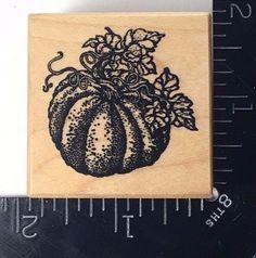 PUMPKIN PSX C-1298 Rubber Stamp Autumn Harvest Pumpkin Patch NEW! #714 #PSX