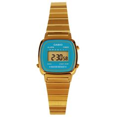 676635463438 Casio Gold Plated Ladies Alarm Digital Watch LA670WGA-2D Casio Digitales