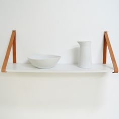 The Grace - Abeautiful alternative to classic shelves. The gorgeous leather straps loop around the shelf, which then appears to 'float' against the wall. A perfect way to create a Scandinavian interiorfor your Home or office. Available in various sizes and finishes. Easy to Mount to any Wall. Screws provided. Does not include installation. Material MDF  Sizes Various  Lead Time Please note that we do carry some stock. Should we be Out of Stock our lead time is 7 working days,  Maximum…