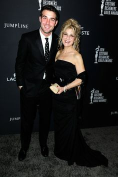 Actor James Wolk (L) and his mom Edie Wolk attend the 16th Costume Designers Guild Awards with presenting sponsor Lacoste at The Beverly Hilton Hote...