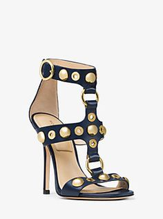 Arlene Embellished Leather Sandal by Michael Kors Micheal Kors Taschen, Micheal Kors Bags, Hot Shoes, Shoes Heels, Dress Shoes, High Heels, Women's Pumps, Leather Sandals, Me Too Shoes