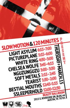 3/15: IHEARTCOMIX presents: Slow Motion and 120 Minutes Showcase