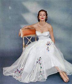 tea length wedding gown 1951