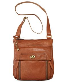 Fossil Handbag, Stanton Leather Traveler Crossbody - Handbags & Accessories - Macy's, $170.