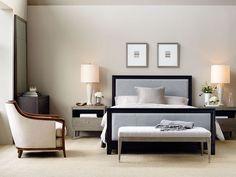 Brand: Baker Furniture Model: Upholstered Bed #designselect #bed #baker