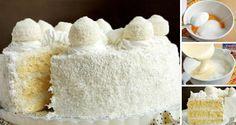 Neodolatelný kokosový dort s Rafaello kuličkami, kterému neodolá žádný smrtelník. Jednoduchý na přípravu a přitom velmi chutný.