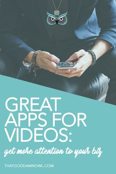 Do it like a pro: 10 amazing video apps to get more attention to your business http://www.thatgoddamnowl.com/blog/10-amazing-video-apps