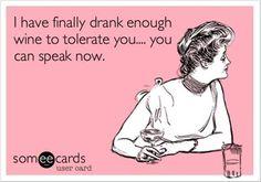 Tolerance wine.
