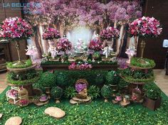 Discover thousands of images about Fairy Birthday Party, Garden Birthday, Butterfly Garden Party, Enchanted Forest Party, Quince Themes, Forest Baby Showers, Quinceanera Themes, Baby Girl Shower Themes, Garden Theme